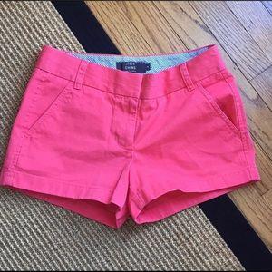 "J Crew 3"" chino shorts size 0"